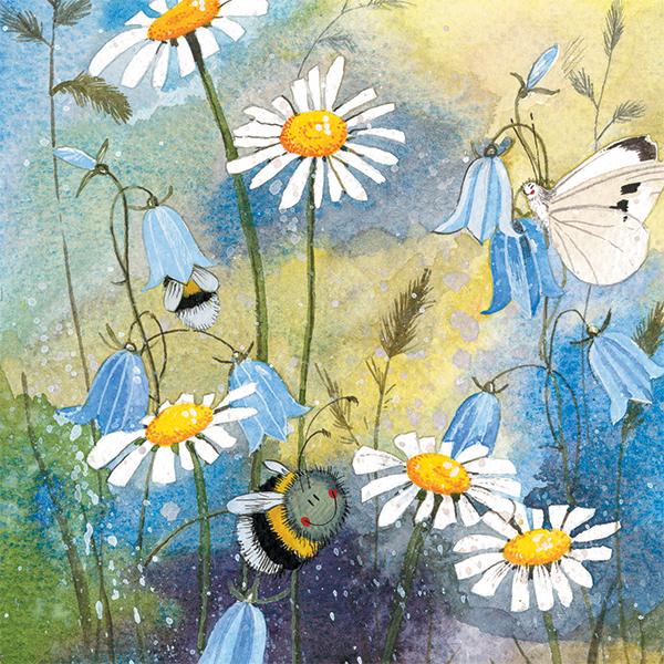 Busy Bees Alex Clark 2020 Calendar: Bee & Daisies Blank Card