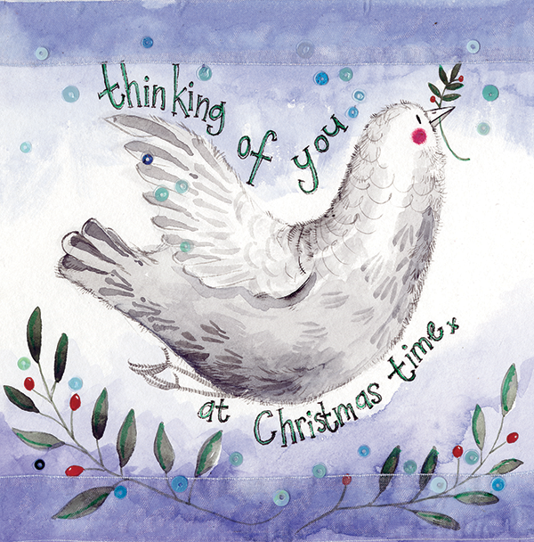 Thinking Of You Dove Christmas Card