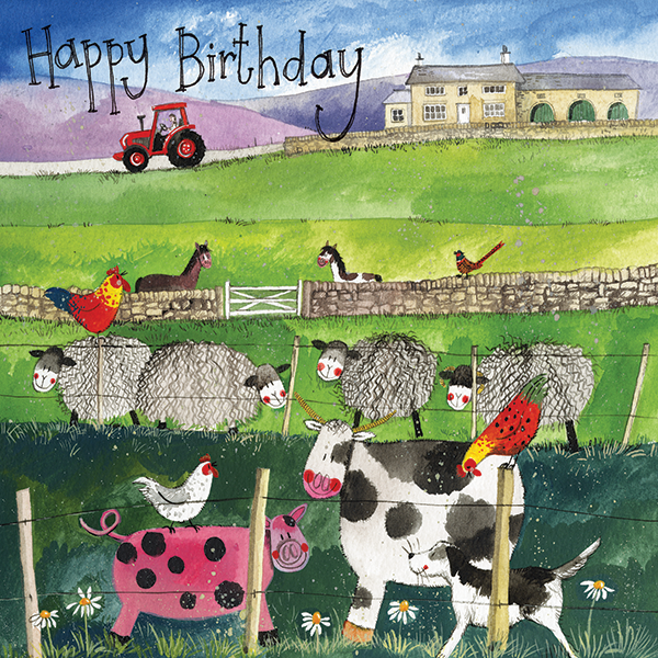 On The Farm Birthday Card Alex Clark Art
