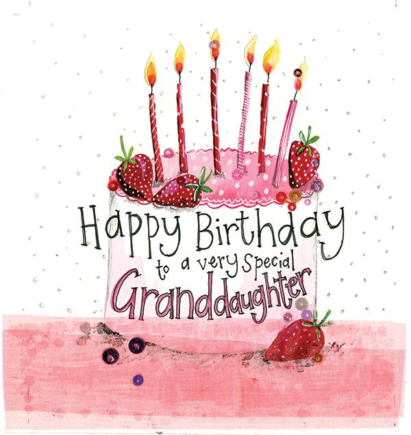Catalog WEBSITE SPARKLE S215 Granddaughter Cake Birthday