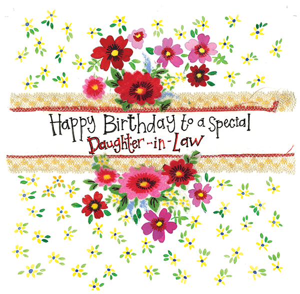 Daughter In Law Floral Birthday Card Alex Clark Art