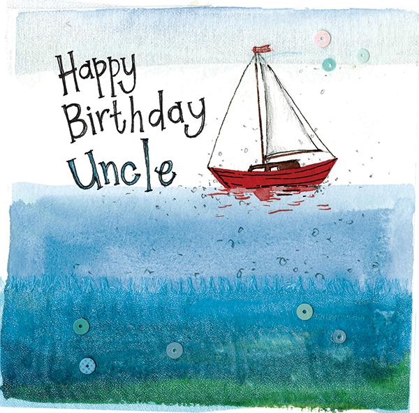 uncle sailboat birthday card alex clark art