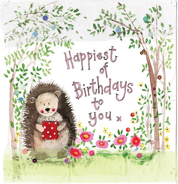 Hedgehog Birthday Card Alex Clark Art