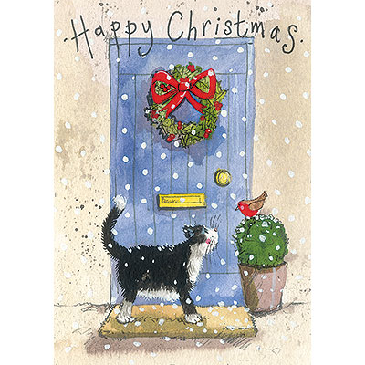 Catalog Products Charity Christmas Cards Portait Blue Door