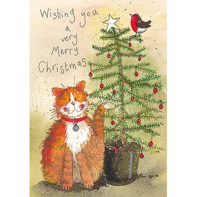 Catalog Products Charity Christmas Cards Portait Cat And