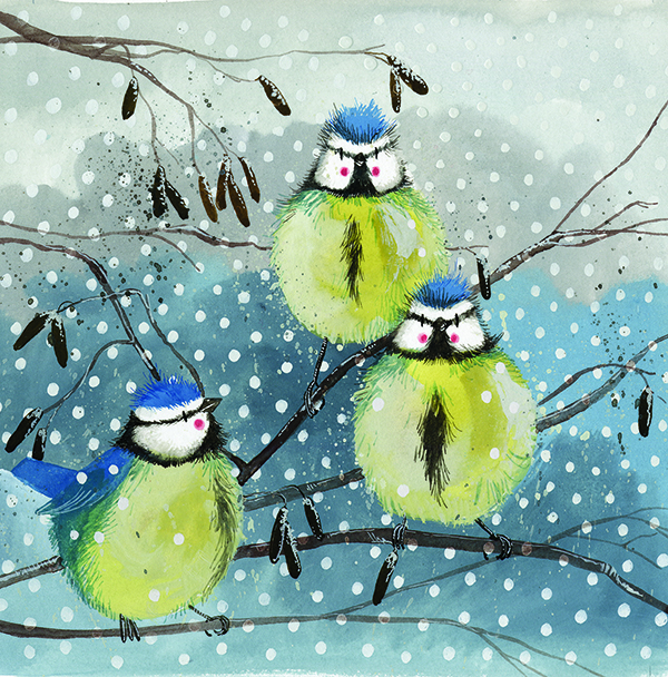 Catalog Products Charity Christmas Cards Square Blue Tits