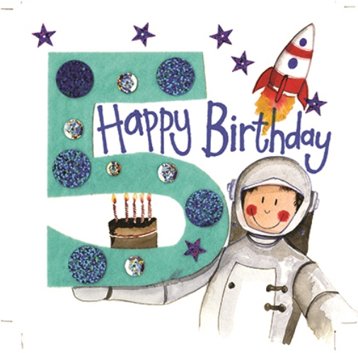 Five For A Boy Birthday Card Alex Clark Art