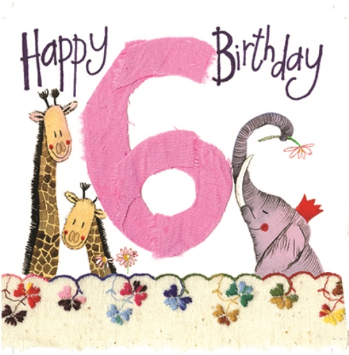 Six For A Girl Number Birthday Card Alex Clark Art