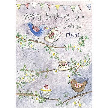 For Mum Garden Bird Birthday Card Alex Clark Art