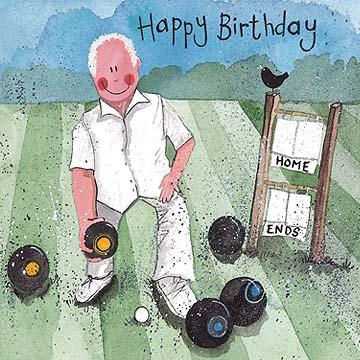 Bowls Happy Birthday Card Alex Clark Art