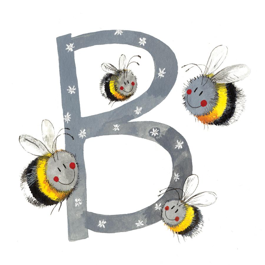 Busy Bees Alex Clark 2020 Calendar: B - Bees Alphabet Tile